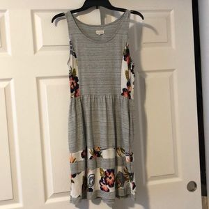 Maison Jules gray and floral sundress - like new!